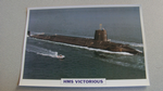 1993 HMS Victorious submarine warship framed picture